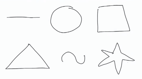 Ole Qvist-Sørensen i jego podstawowe kształty (screen z YouTube)